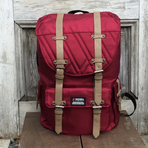 buy cheap 50% off low priced NWOT Olympia Hopkins Red Backpack Rucksack 18""